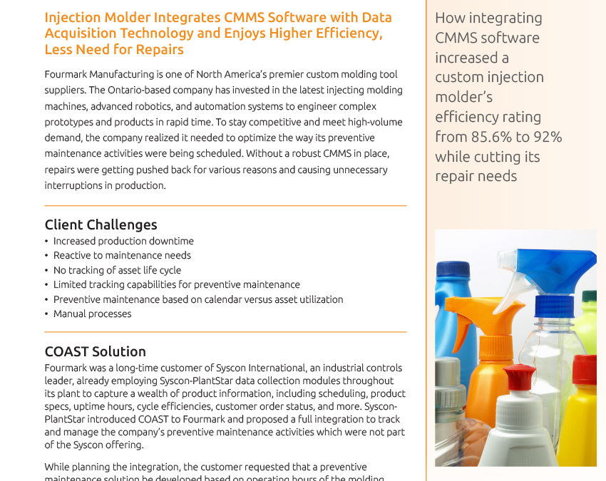 COAST Systems Fourmark CMMS case study