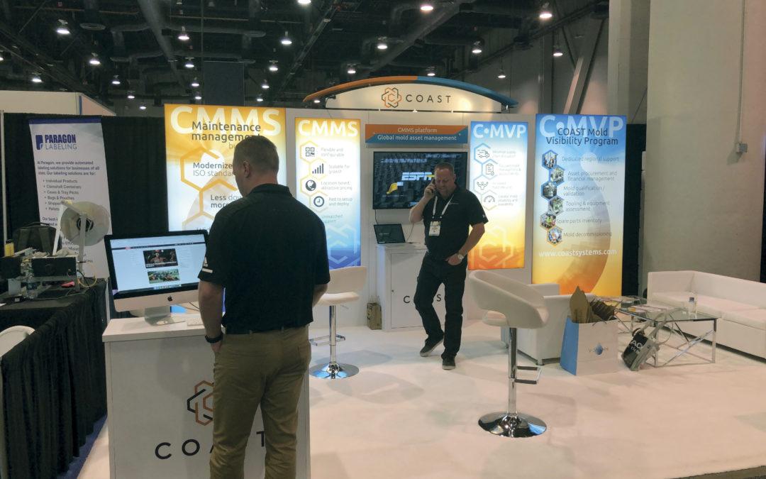 COAST Systems trade show display