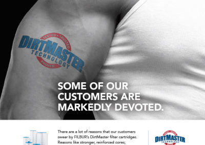 """DirtMaster™ """"Loyalty"""" ad campaign"""