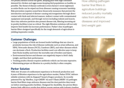 Parker HVAC Division poultry production case study