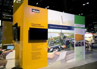 Parker Power Generation trade show graphics