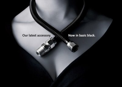 BrassCraft black ProCoat gas fireplace connectors ad